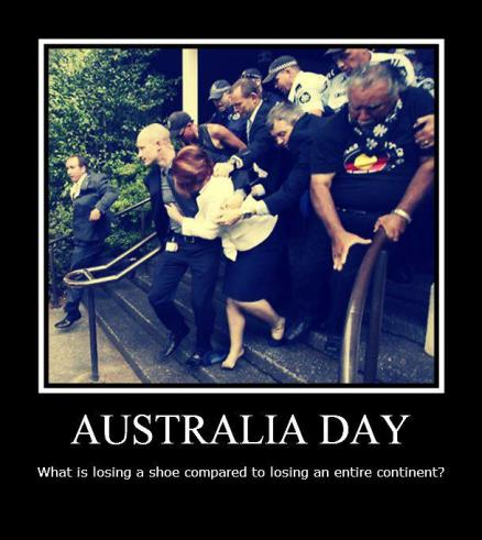 Gillard on Australia Day - what is losing a shoe compared to an entire continent?