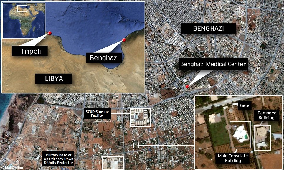 There Is No US EmbassyConsulateMission In Benghazi Libya - Us embassy map